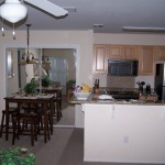 Just like home. Cook a meal and relax after your day in your temporary housing in Panama City Beach.