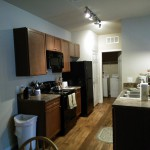 Fully appointed kitchen in your furnished apartment in Panama City Beach.