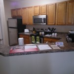 All the pots and pans you need for home cooking in your furnished apartment in Pensacola.