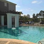Relax by the pool after your work day - all included in your short term stay in Panama City.